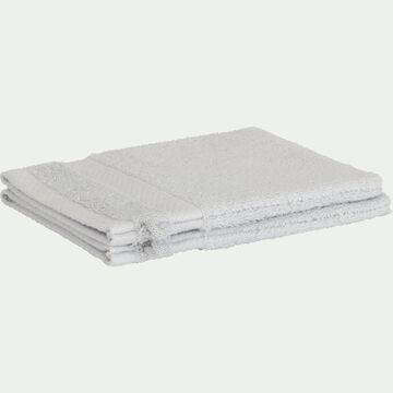 Lot de 2 gants de toilette en coton peigné - gris borie-AZUR