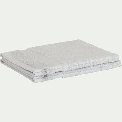 Gant de toilette en coton peigné - gris borie-AZUR