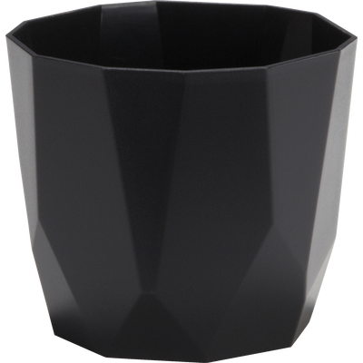 Cache-pot noir en plastique H13xD14cm-B FOR