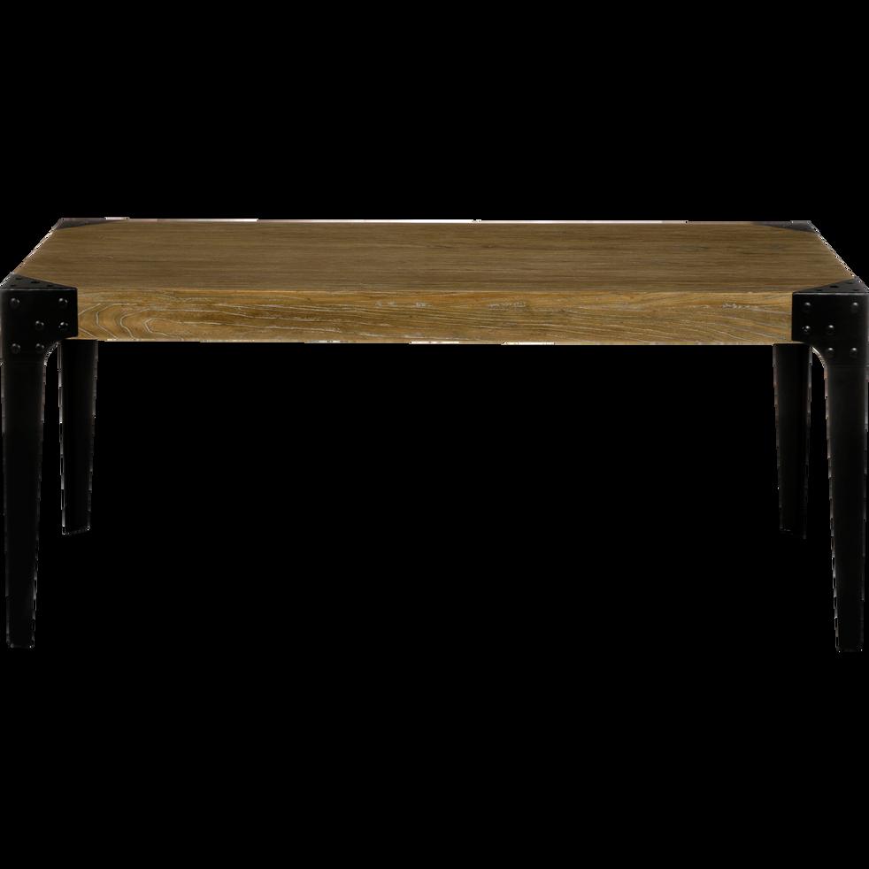Table de repas en orme massif et métal - 8 places-Bark