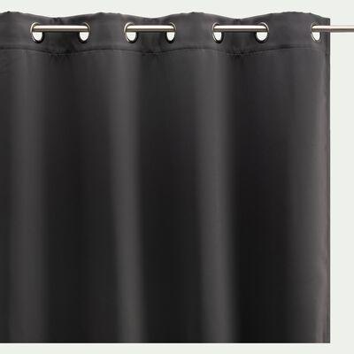 Rideau occultant à œillets - gris ardoise 140x250cm-GORDES