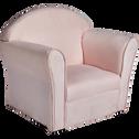 Fauteuil club rose et blanc à rayures pour enfant-CLUBBY