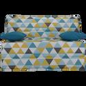 Housse BZ motif triangles 140cm-SCANDI