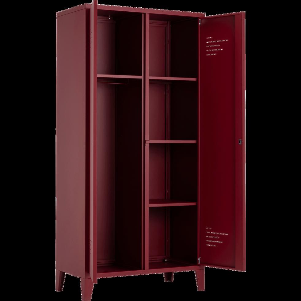 Armoire 2 portes en acier Rouge sumac-LOFTER