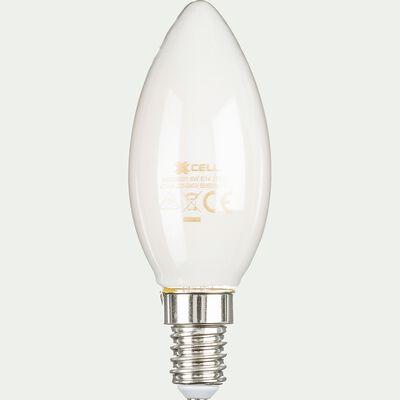 Ampoule LED à filament - blanc chaud culot E14-STANDARD