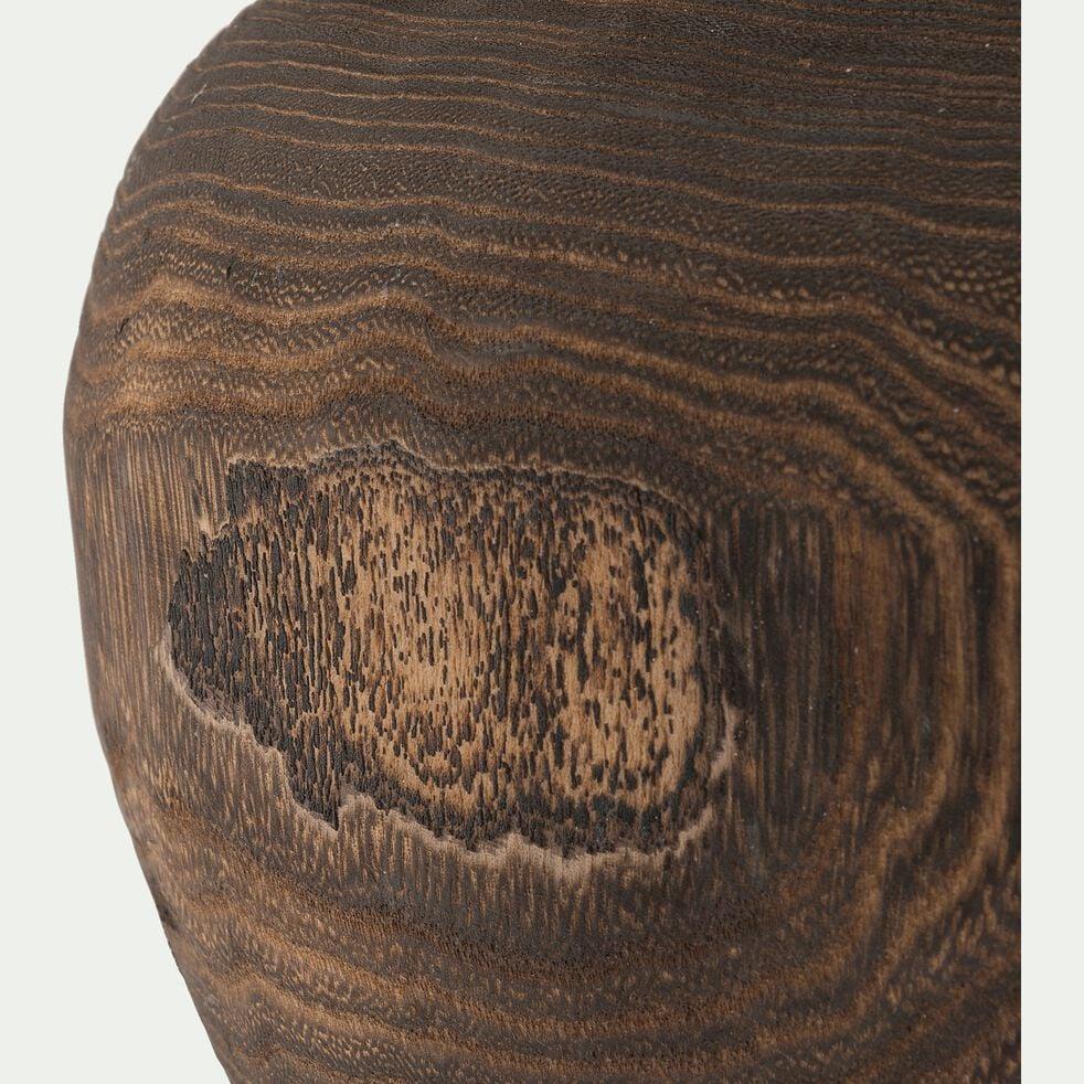 Cache-pot en bois de paulownia D29xH19,5cm-LISA