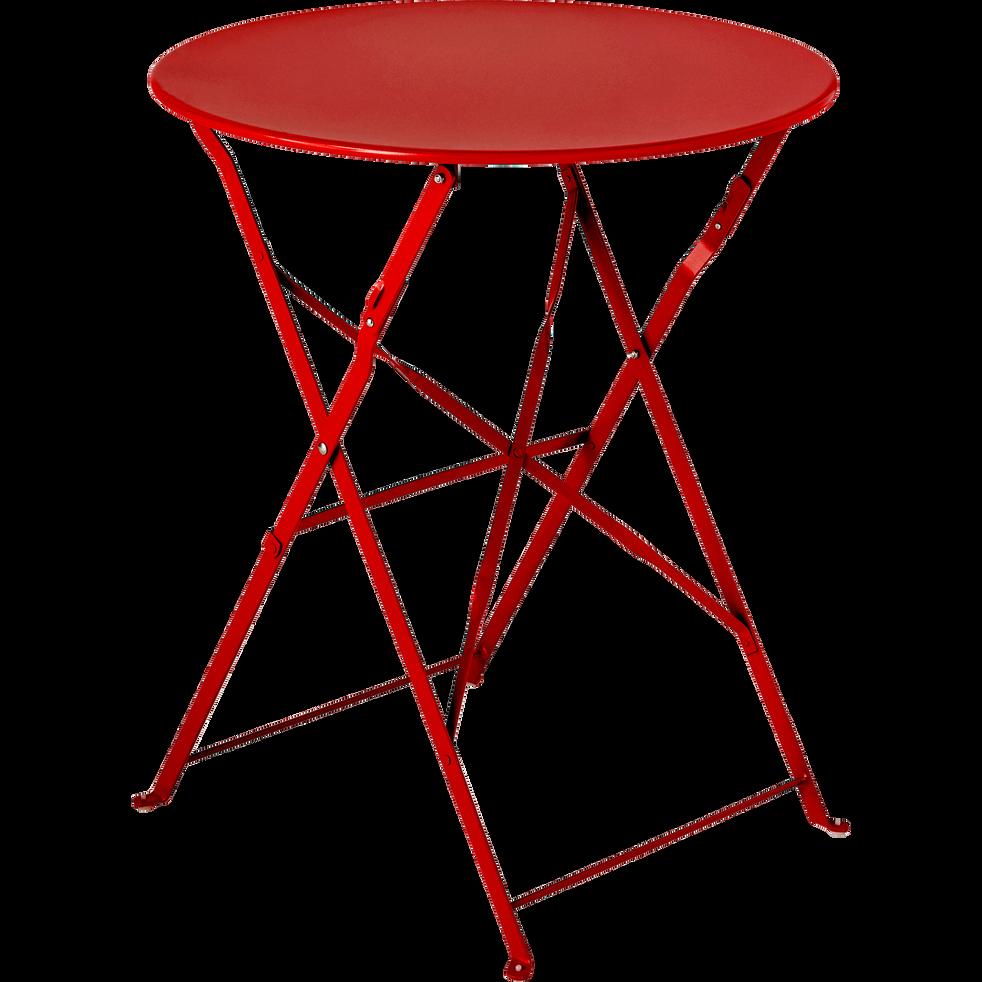 Table de jardin pliante rouge D60cm (2 places) - PIMS - tables de ...