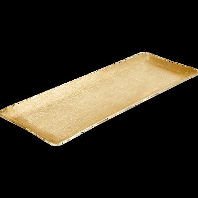Plateau en métal doré L50cm-PANISSE