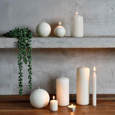 4 bougies votives blanc ventoux-HALBA