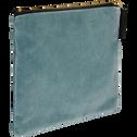 Pochette en coton bleu 21x16,5cm-HANOI