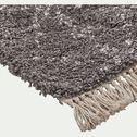 Tapis à franges inspiration berbère - gris 160x230cm-mel