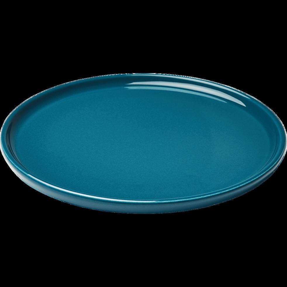 Assiette à dessert en faïence bleu figuerolles D21cm-VADIM