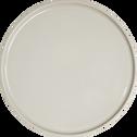 Assiette plate en faïence gris borie D27cm-VADIM