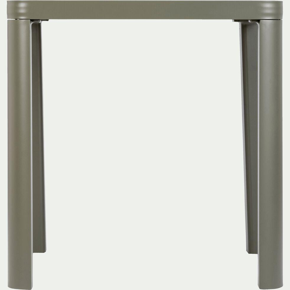 Table de jardin en aluminium carrée vert cèdre (2 places)-ALEP