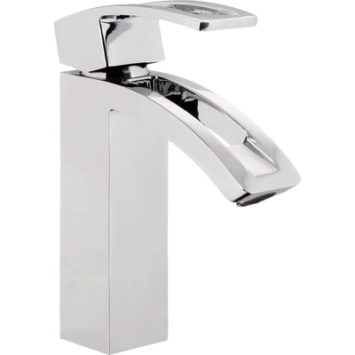 Mitigeur pour lavabo de salle de bains bas chromé-AGÉNOR