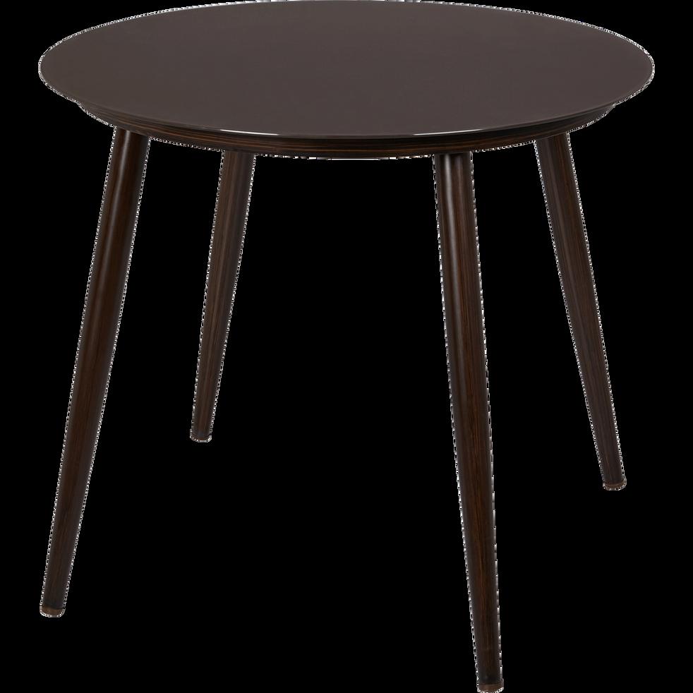 table de jardin marron en verre tremp et aluminium 4 places palermo tables de jardin alinea. Black Bedroom Furniture Sets. Home Design Ideas
