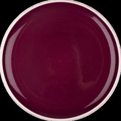 Assiette plate en faïence rouge D27cm-CAMELIA