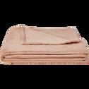 Plaid doux rose argile (plusieurs tailles)-ROBIN