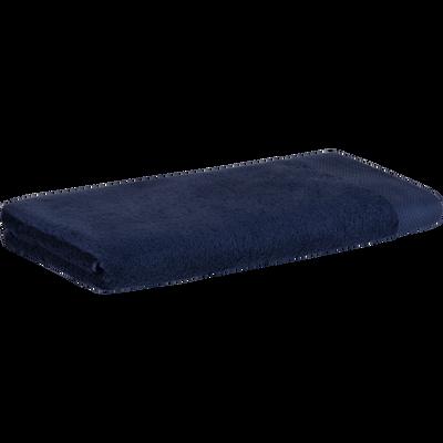 Drap de douche en coton 70x140cm bleu myrte-AZUR