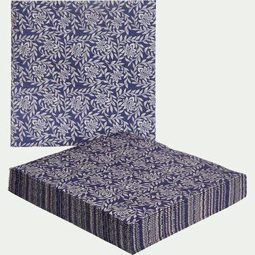 Lot de 20 serviettes intissé à motifs 40x40cm-JASMIN