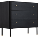 Commode 3 tiroirs Noir-FEREL
