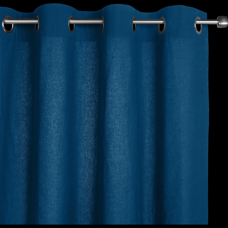 Agreable Rideau à Oeillets En Coton Bleu Figuerolles 140x250cm CALANQUES