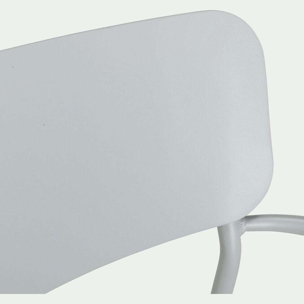 Chaise de jardin en aluminium avec accoudoirs gris vésuve-Matias