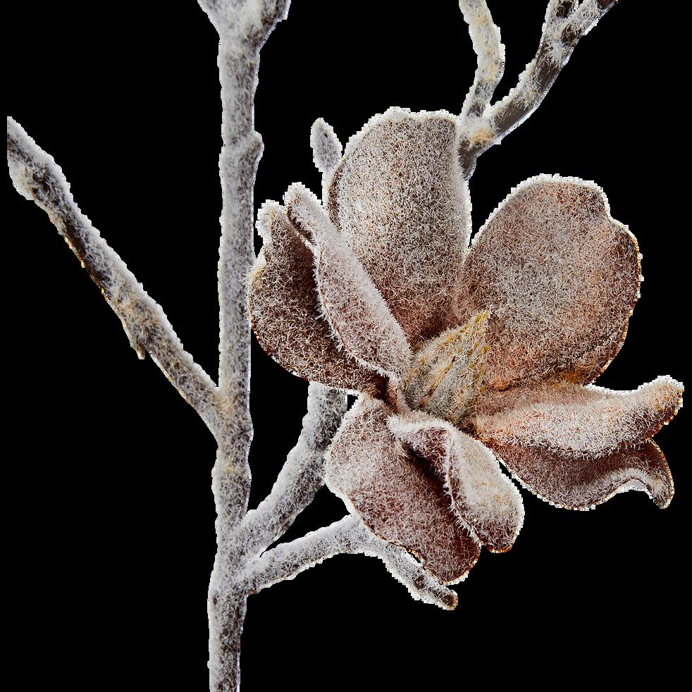 Magnolia artificiel givré H72cm-MESA
