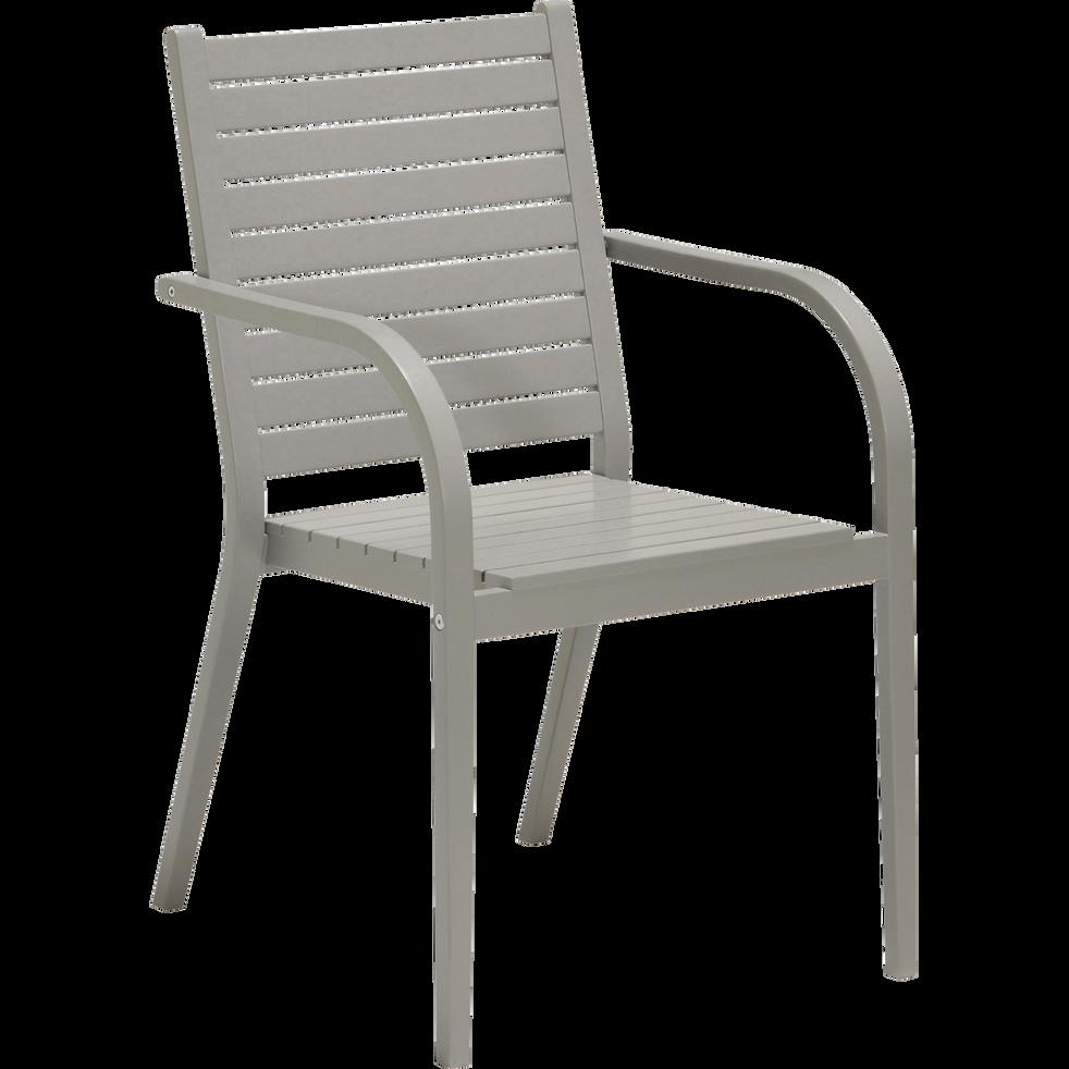 Fauteuil de jardin gris en bois alama chaises de jardin alinea - Alinea fauteuil jardin ...