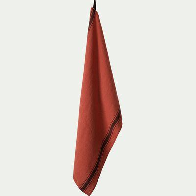 Torchon en lin rouge 46x70cm-GIARA