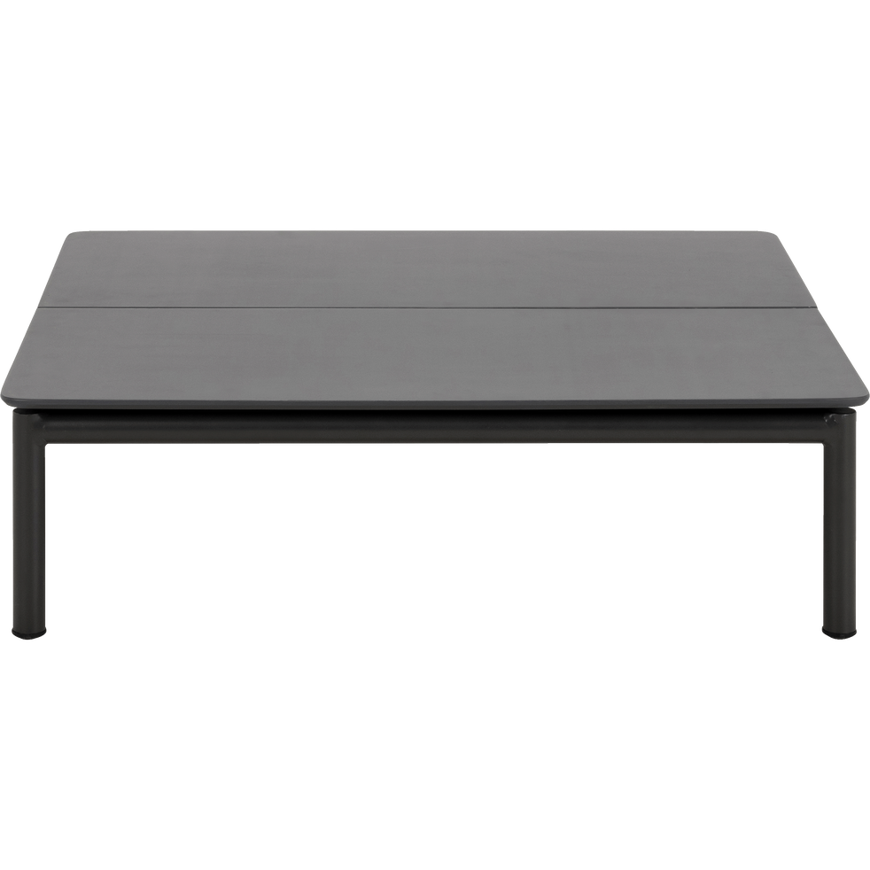 Table basse de jardin en aluminium gris anthracite - ALEX - tables ...