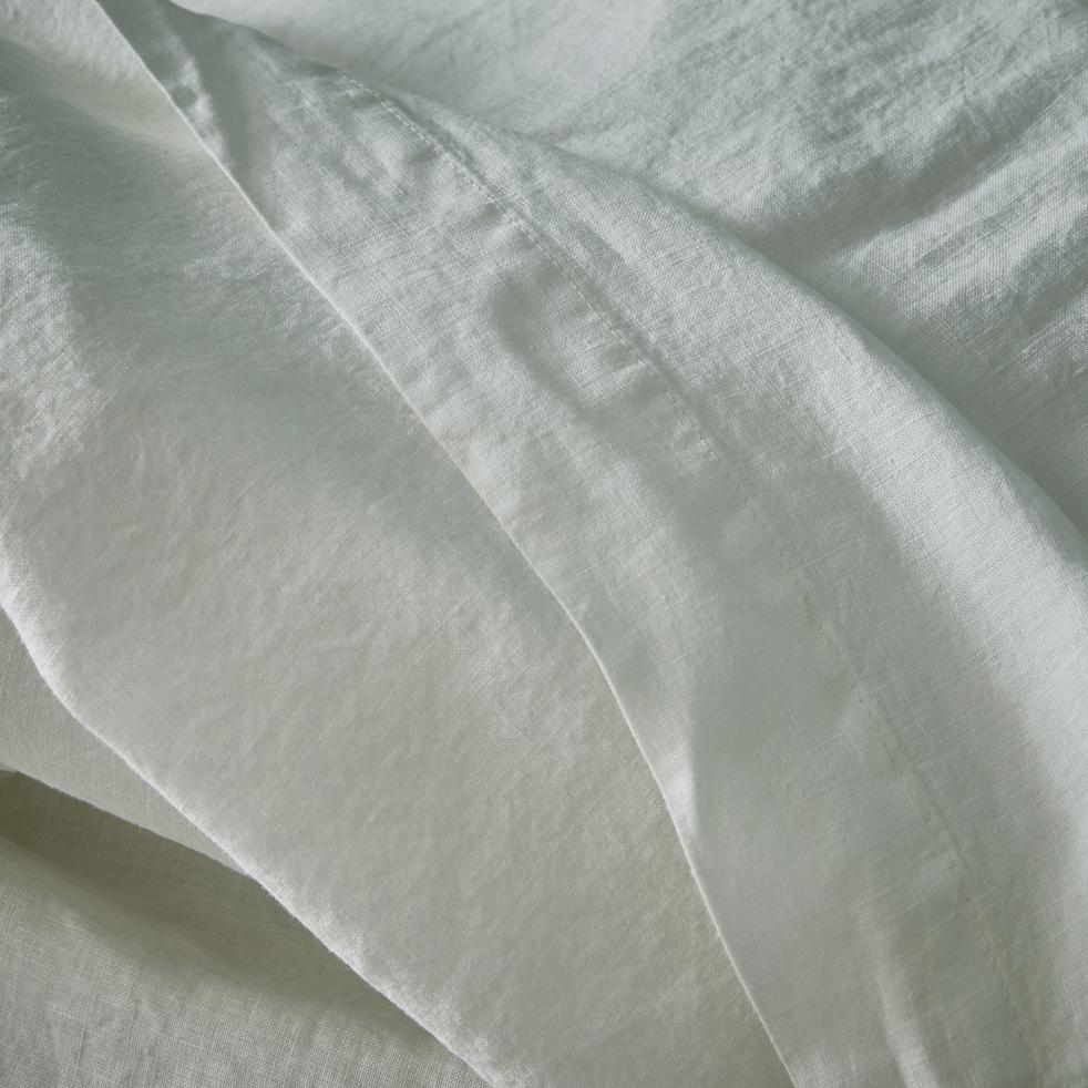 Linge de lit en lin blanc capelan-VENCE