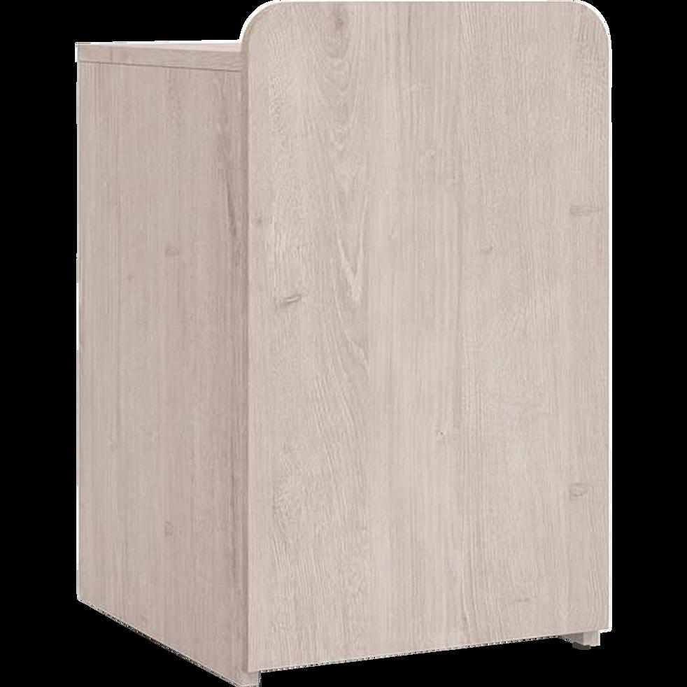 Table de chevet haute effet chêne 1 porte-LENA