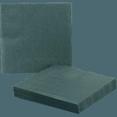 Lot de 20 serviettes en papier vert cèdre 33x33cm-SAZE