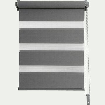 Store enrouleur tamisant gris anthracite 37x190cm-JOUR-NUIT