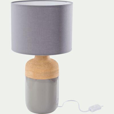 Lampe à poser en céramique grise H47xD26cm-LAP