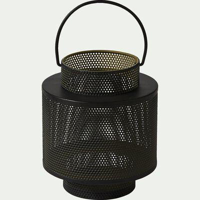 Lanterne en métal - vert - H14,5cm-ZACHARIE