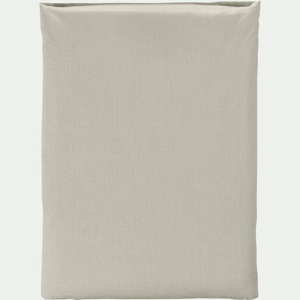 Drap plat en coton - vert olivier 180x300cm-CALANQUES