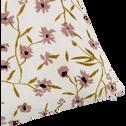 Coussin en coton à motif fleuri 40x40cm-DAWNGA