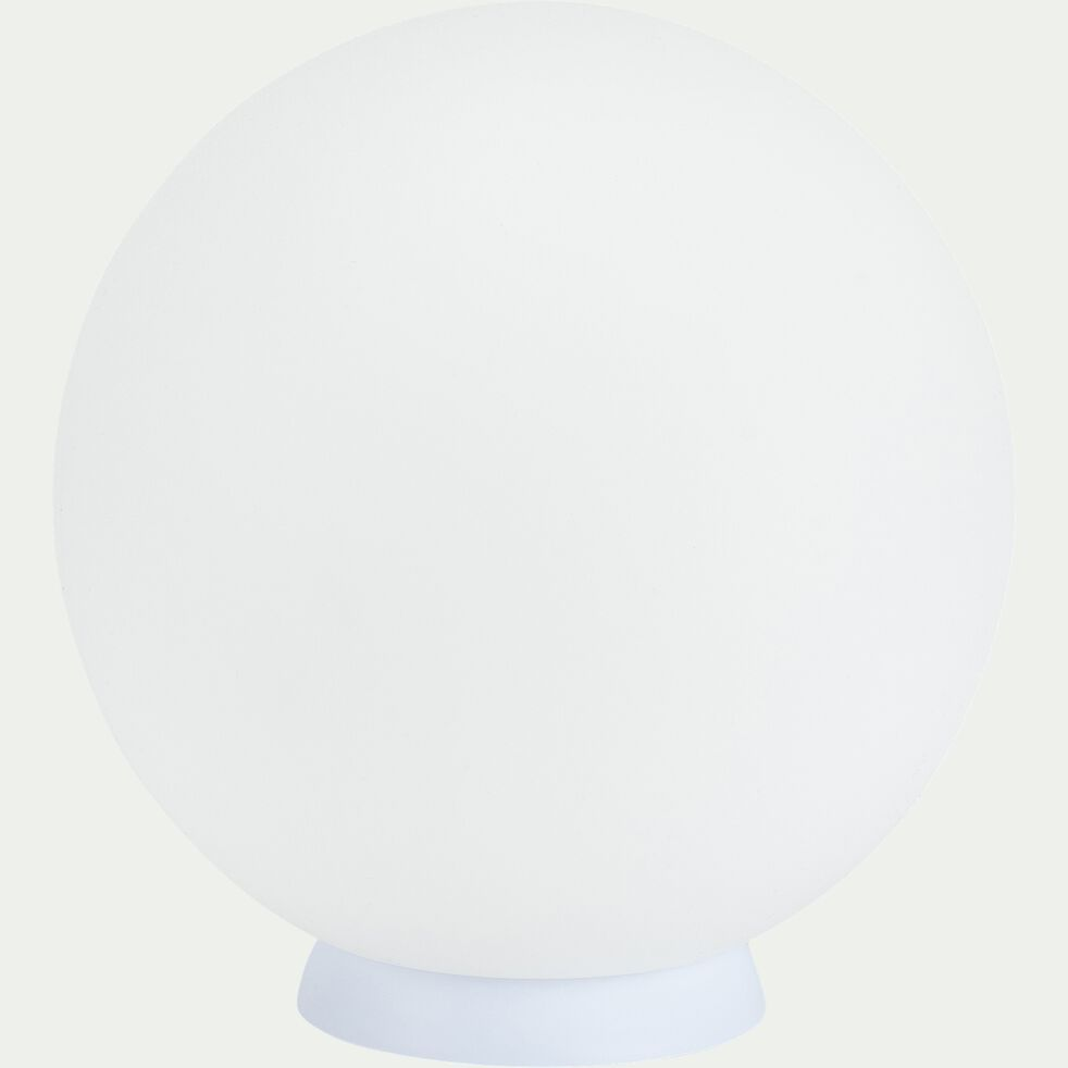 Sphère lumineuse d'extérieur solaire et sans fil - blanc D30cm-BULY