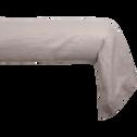 Taie de traversin en lin Beige 45x190cm-VENCE