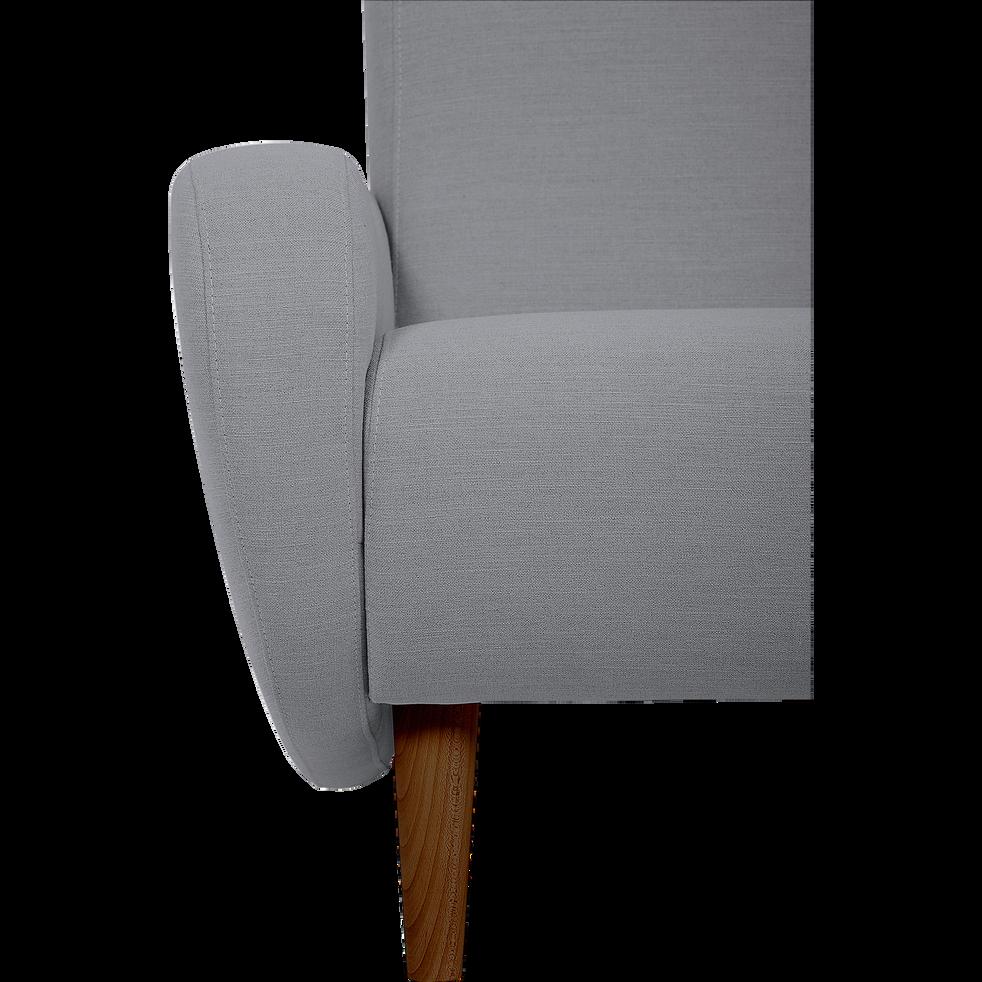 Fauteuil rétro en tissu gris-BEAN