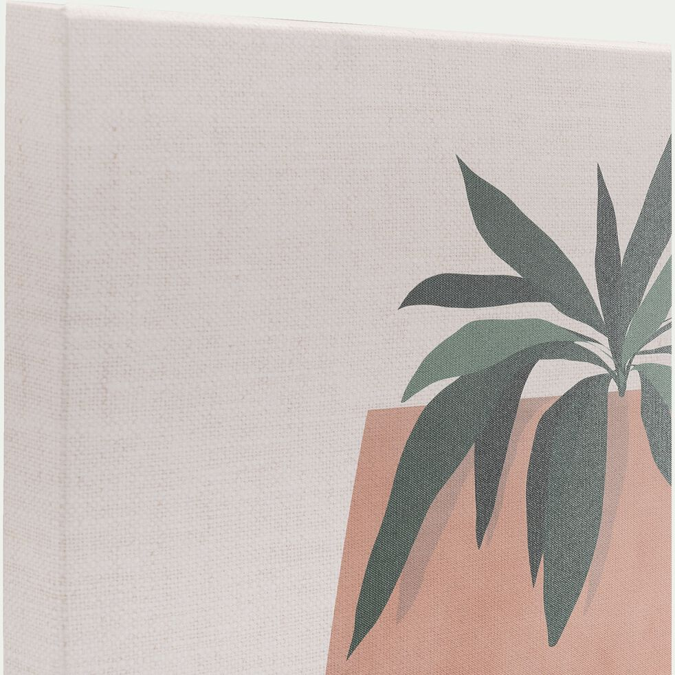 Toile imprimée motif exotique et fruits L50xl70cm - naturel-AURUOU