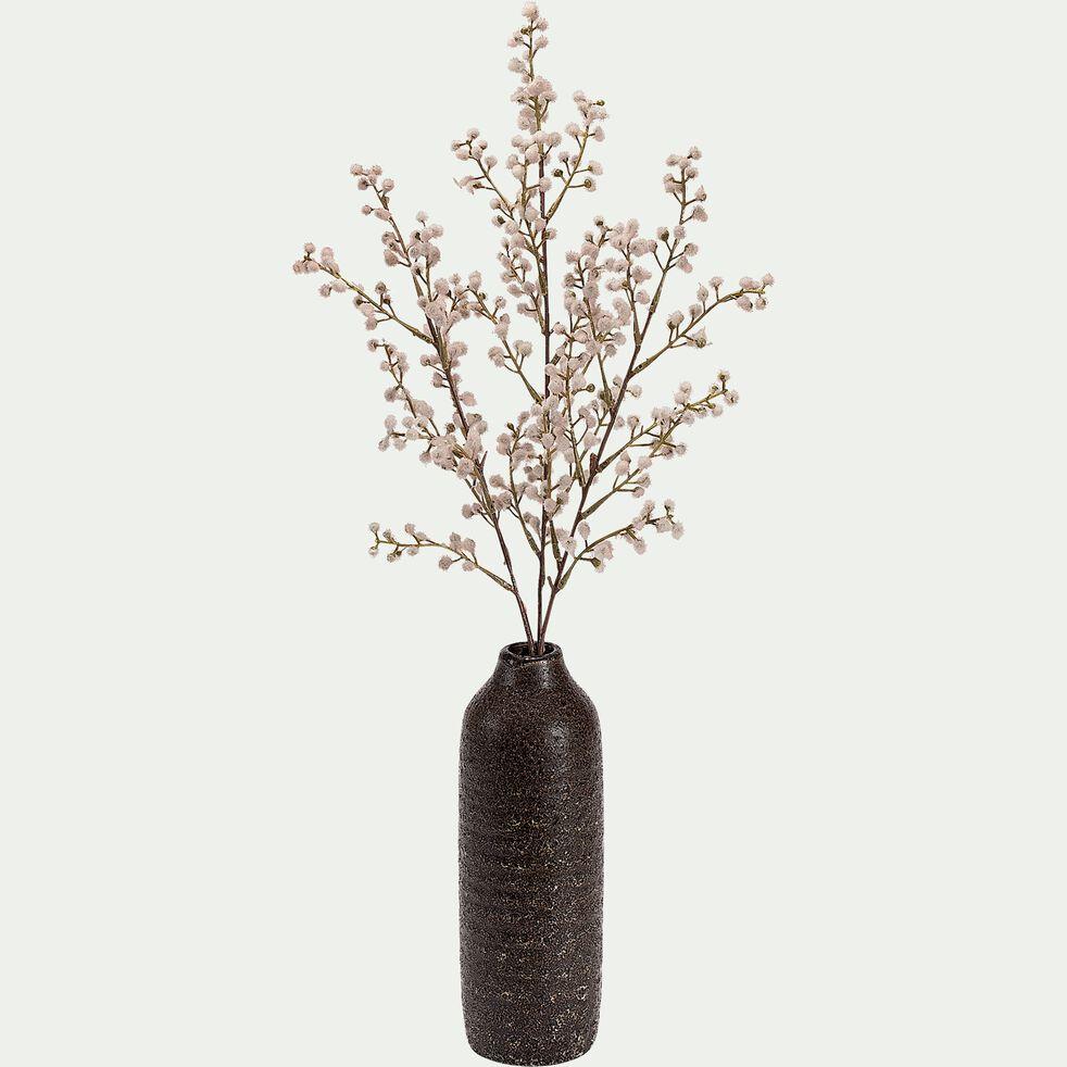 Vase en céramique émaillée - marron H30cm-AMANZA