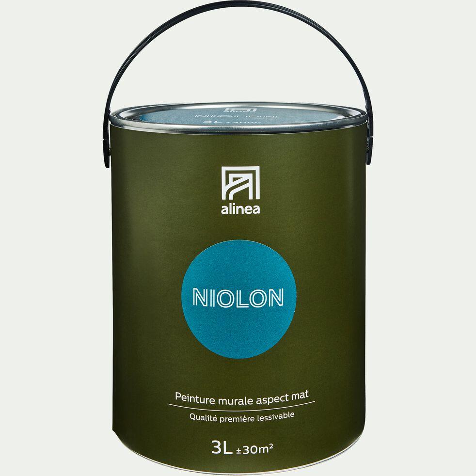 Peinture Sur Papier Peint Existant peinture - peinture acrylique mate multi-supports 3l bleu niolon