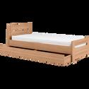 Tiroir de lit à roulettes en dérivés de bois-Naturela
