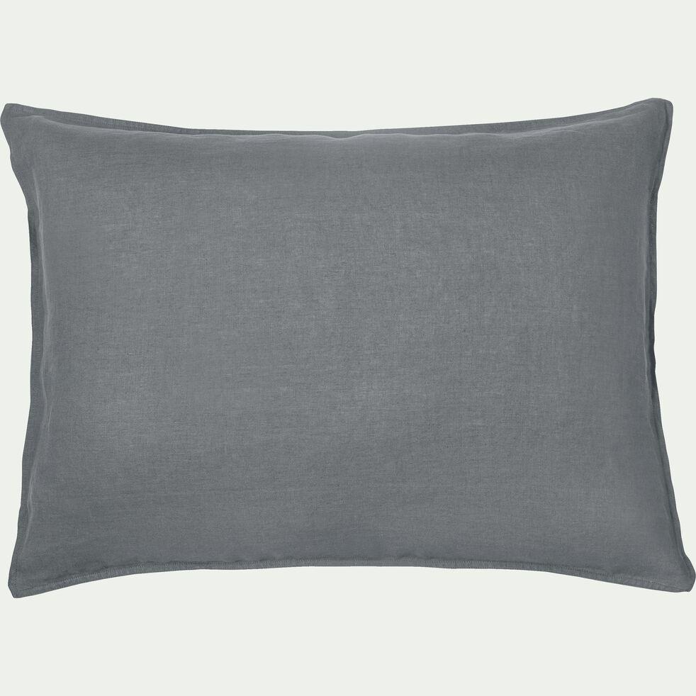 Lot de 2 taies d'oreiller en lin - gris restanque 50x70cm-VENCE