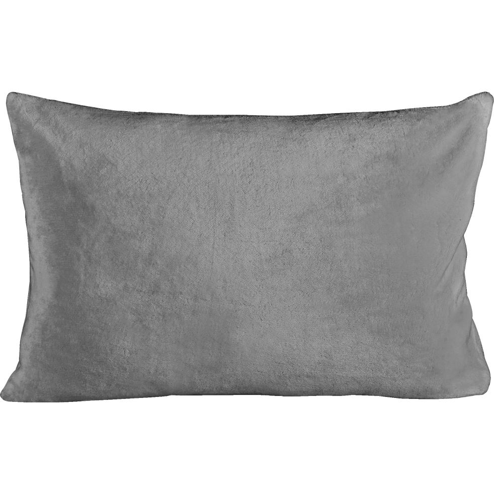 Housse de coussin effet doux gris restanque 40x60cm-ROBIN