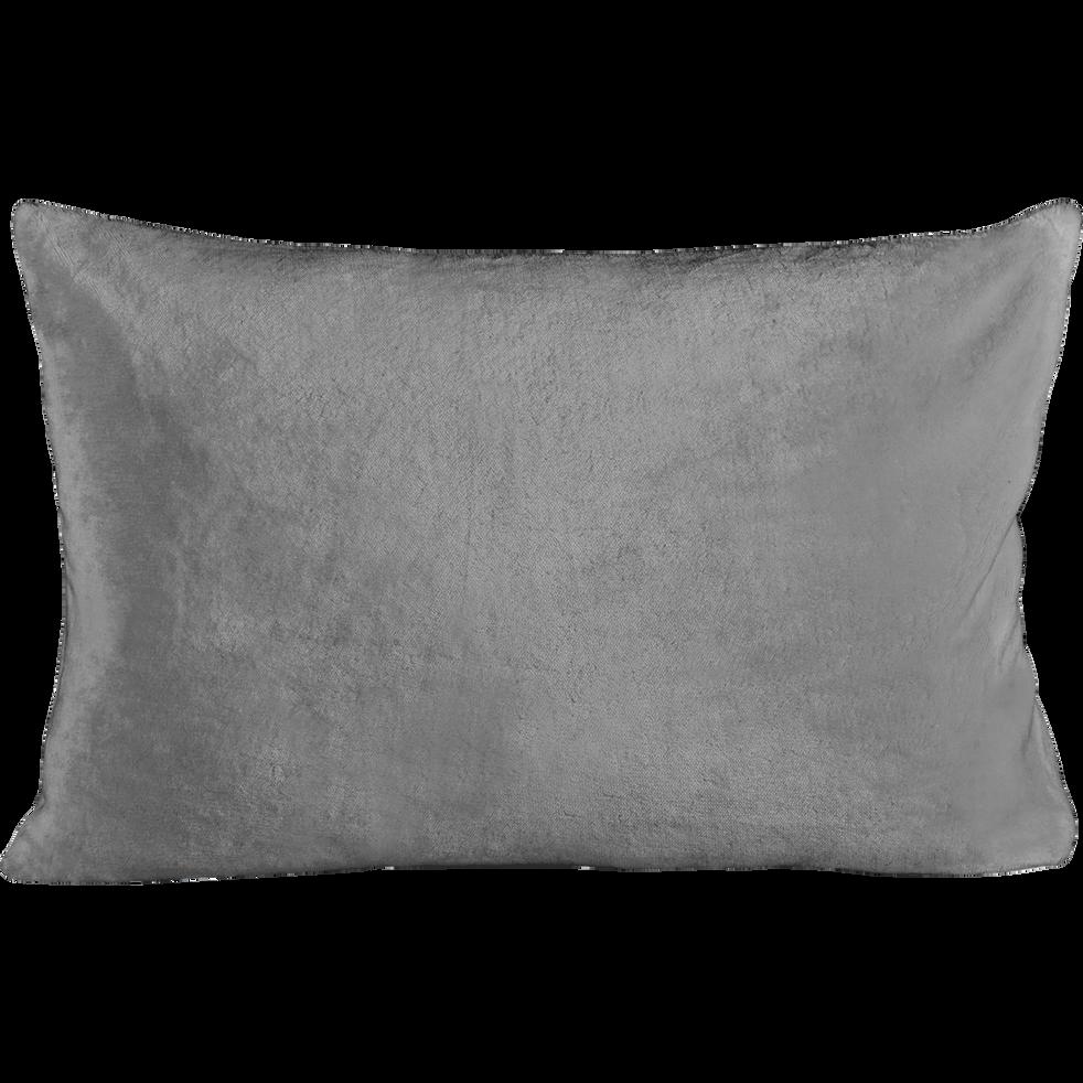 housse de coussin effet doux gris restanque 40x60cm. Black Bedroom Furniture Sets. Home Design Ideas