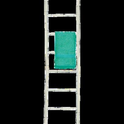 Porte-serviettes échelle en bambou blanc H190cm-CIRO